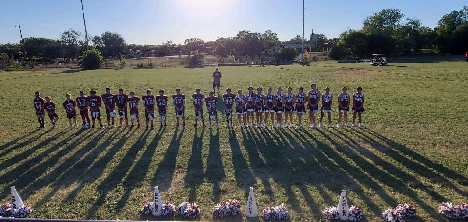 Football and Cheerleaders