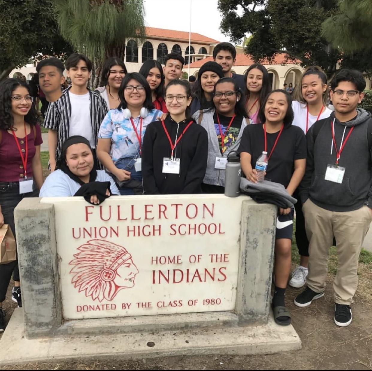 Students Visiting Fullerton Union HS CETA