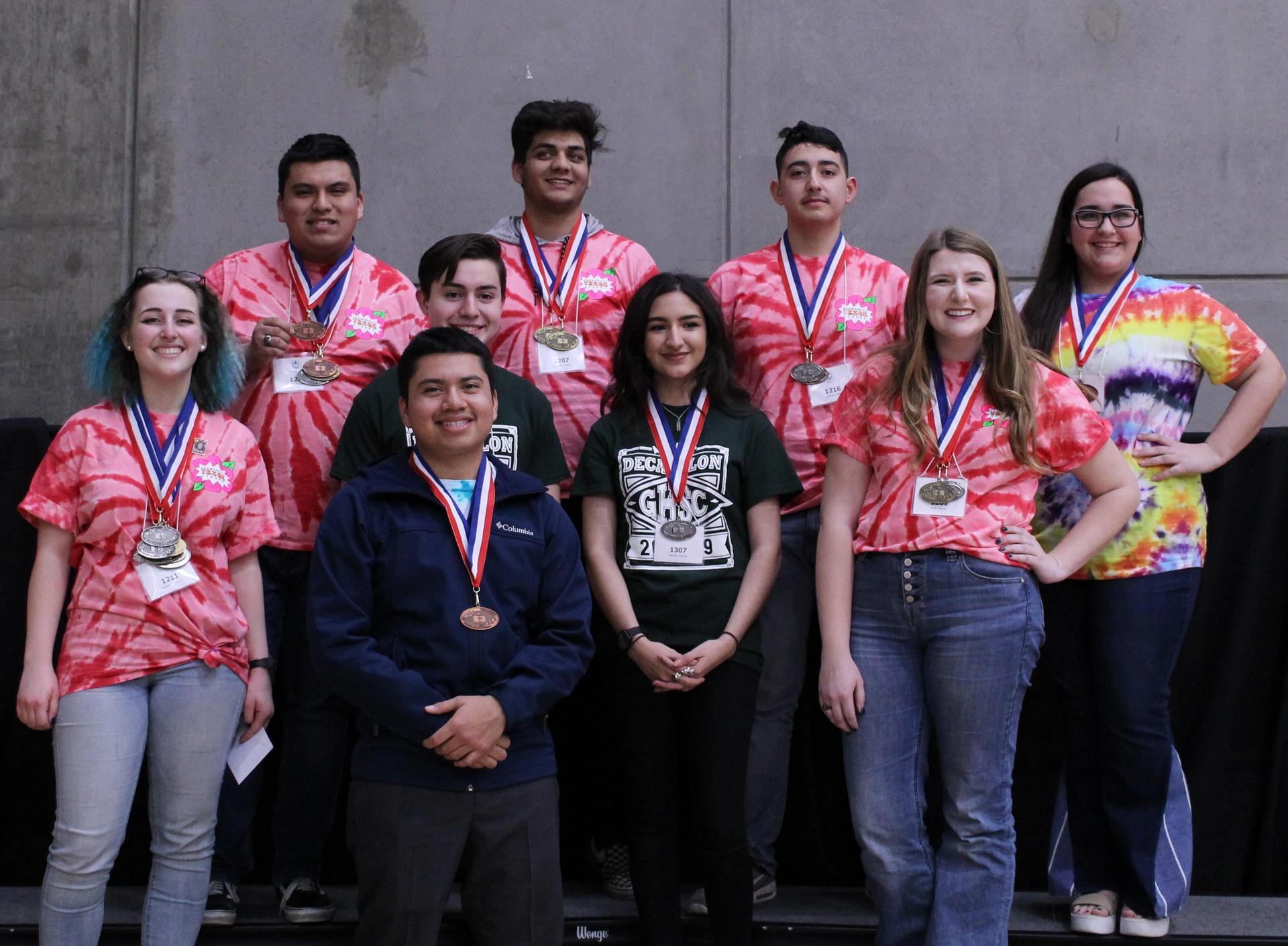 Speech Medalists: Madison Ingraham, Honors Silver; Alan Martinez, Scholastic Bronze; Gurpreet Dhesi, Varsity Gold; Geovanni Vera, Scholastic Silver; Kylie Farmer, Honors Gold