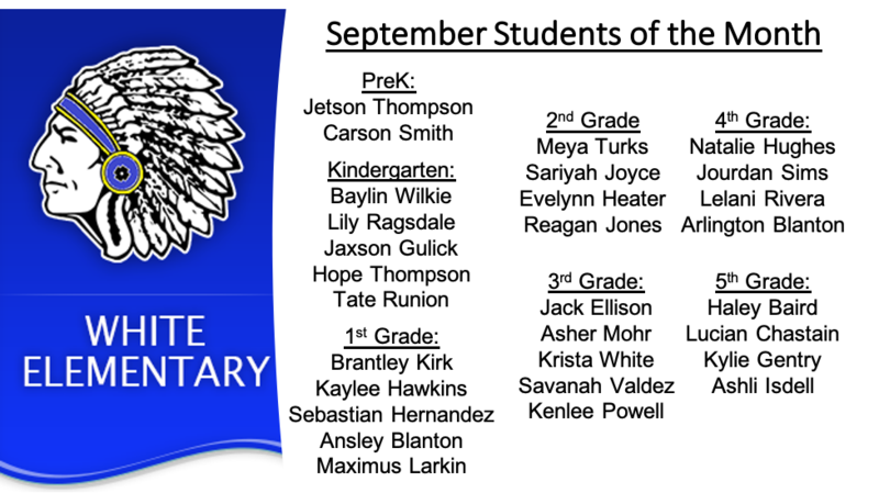 Congratulations to the September Students of the Month! Featured Photo
