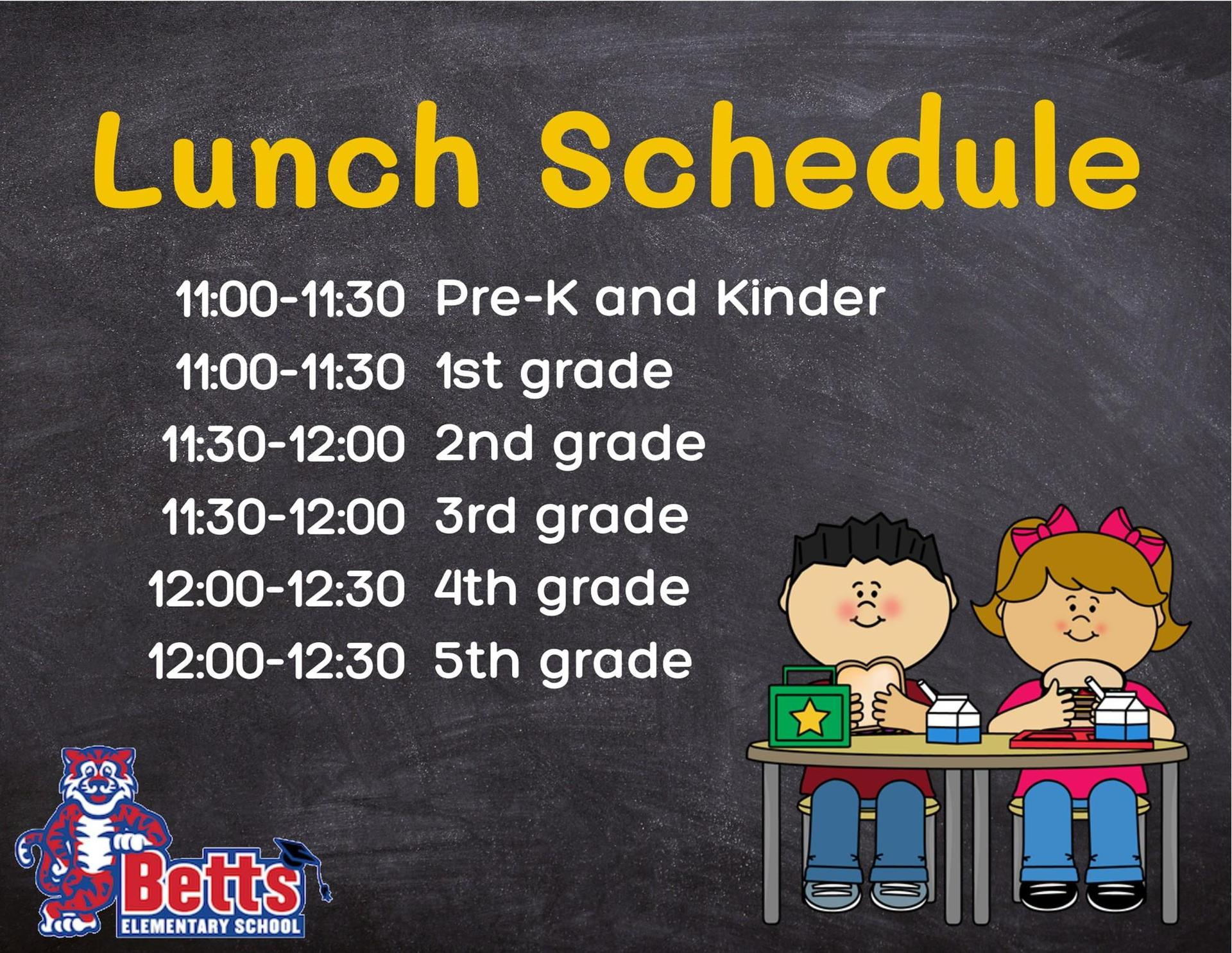 Image of Lunch Schedule poster