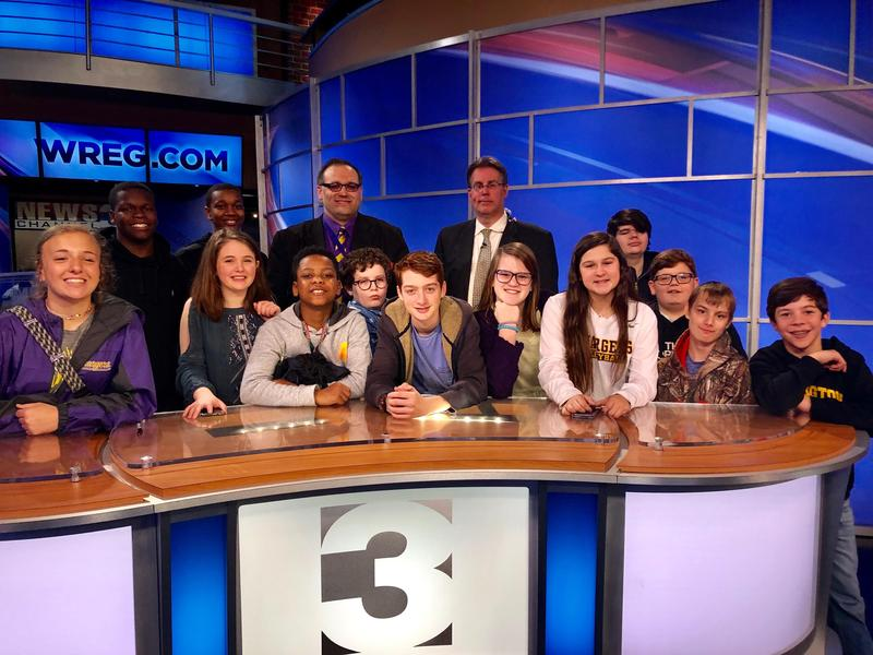 visit to WREG tv Channel 3