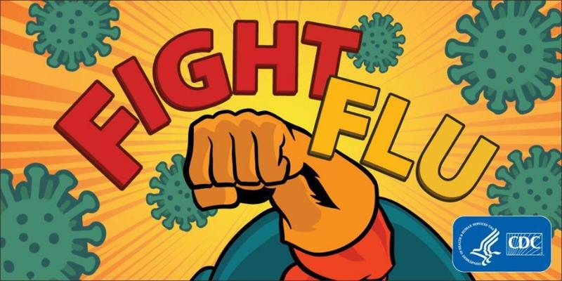 Fight Flu with superhero fist