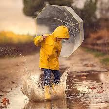 Child in the rain.