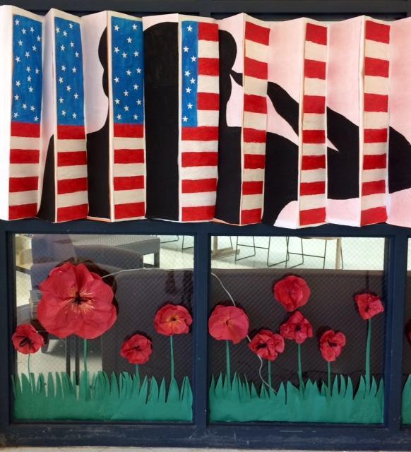 VA decoration of man and flag