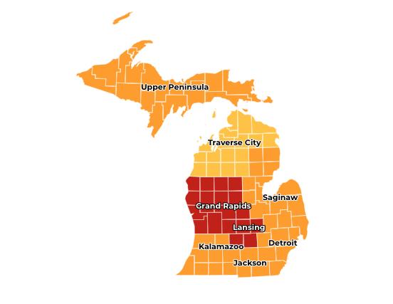 Michigan Covid Map 7.20.20