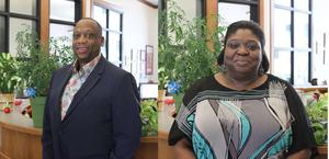 Photo of Principal Frank Brown and Principal Paula McClendon