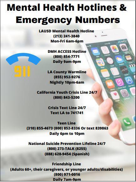 Mental Health Hotlines