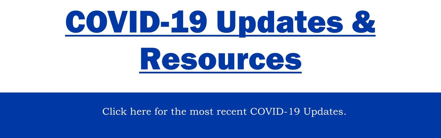 COVID-19 Updates & Resources Banner
