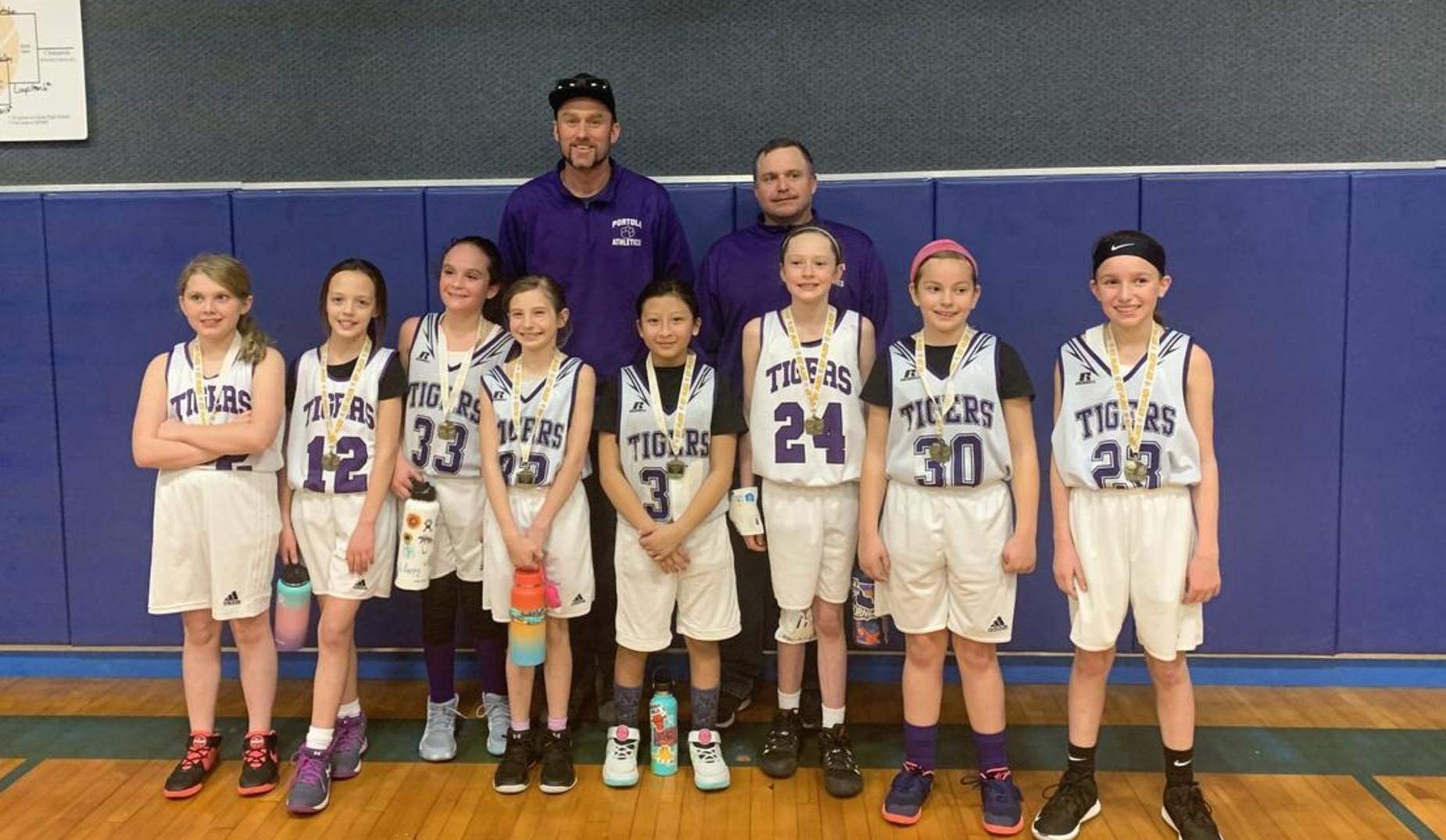 5th Grade Girls at Loyalton Tournament