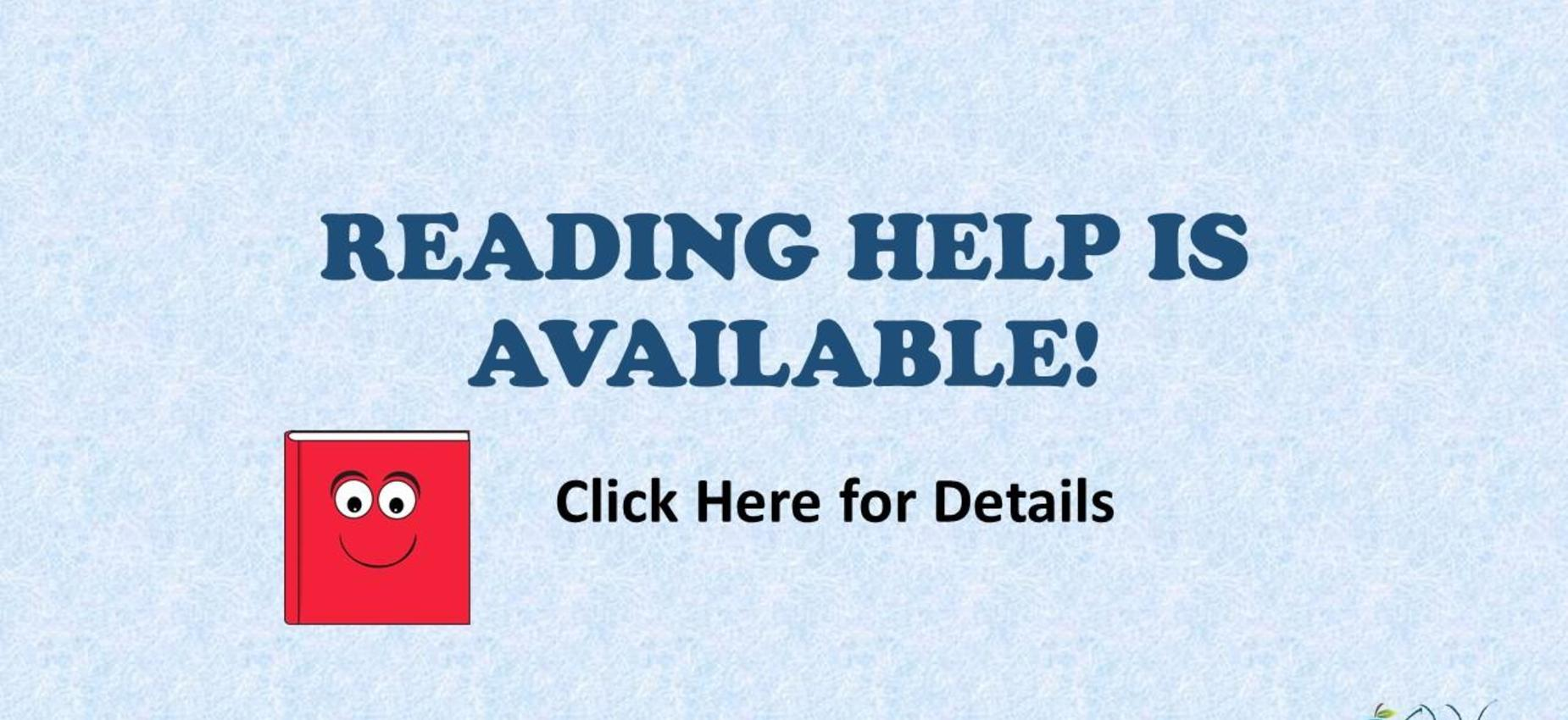 Reading Help is Available Graphic