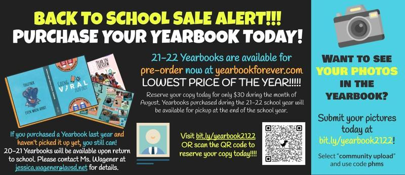 2022 Yearbook Pre-Sale is on NOW! Featured Photo