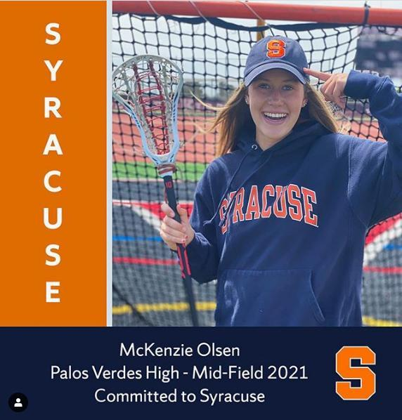McKenzie Olsen Commits to Syracuse Lacrosse Thumbnail Image