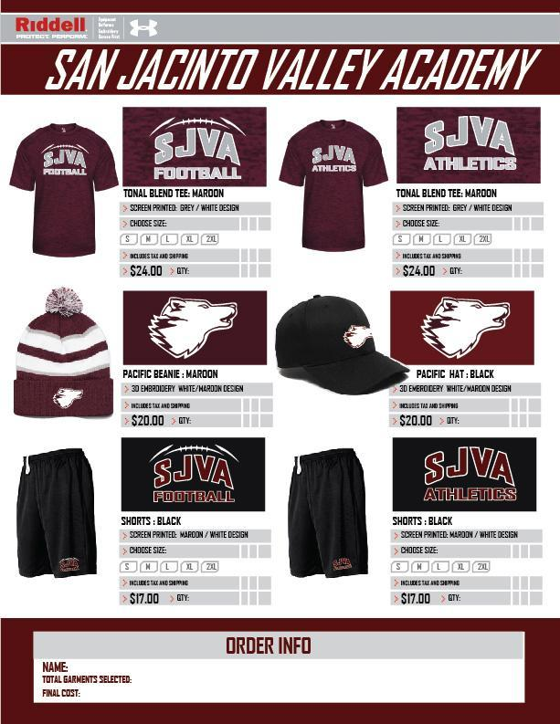 SJVA Athletic Gear Sale (Click Headline For Order Form) Featured Photo