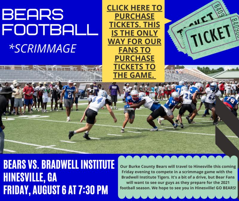 bears football - ticket image