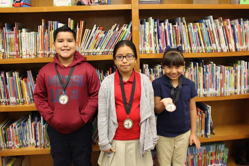 1st Place Brihanna Hernandez, 2nd Place Jose Pena, 3rd Place Karina Gutierrez