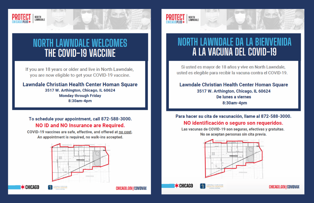 North Lawndale COVID-19 Vaccine Info linked above