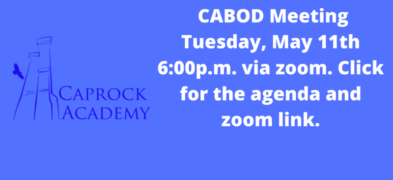 CABOD Meeting agenda and zoom link