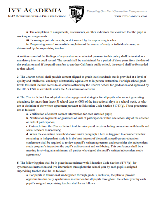 Independent Study Policy Page 2
