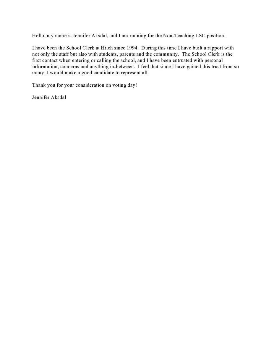 Aksdal LSC Statement