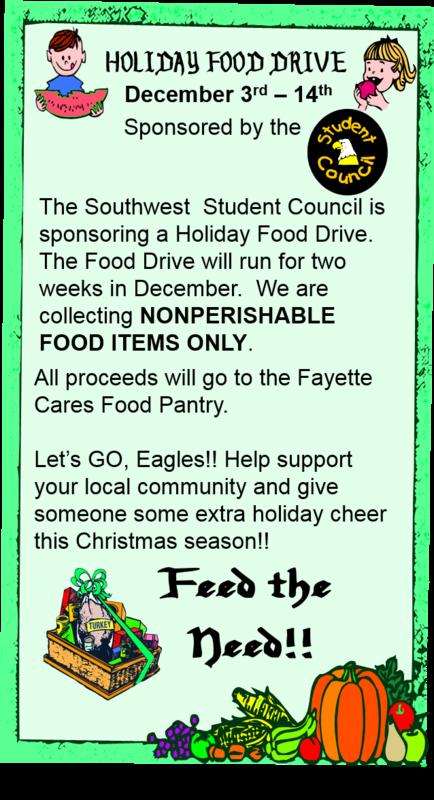 Student Council Holiday Food Drive Thumbnail Image