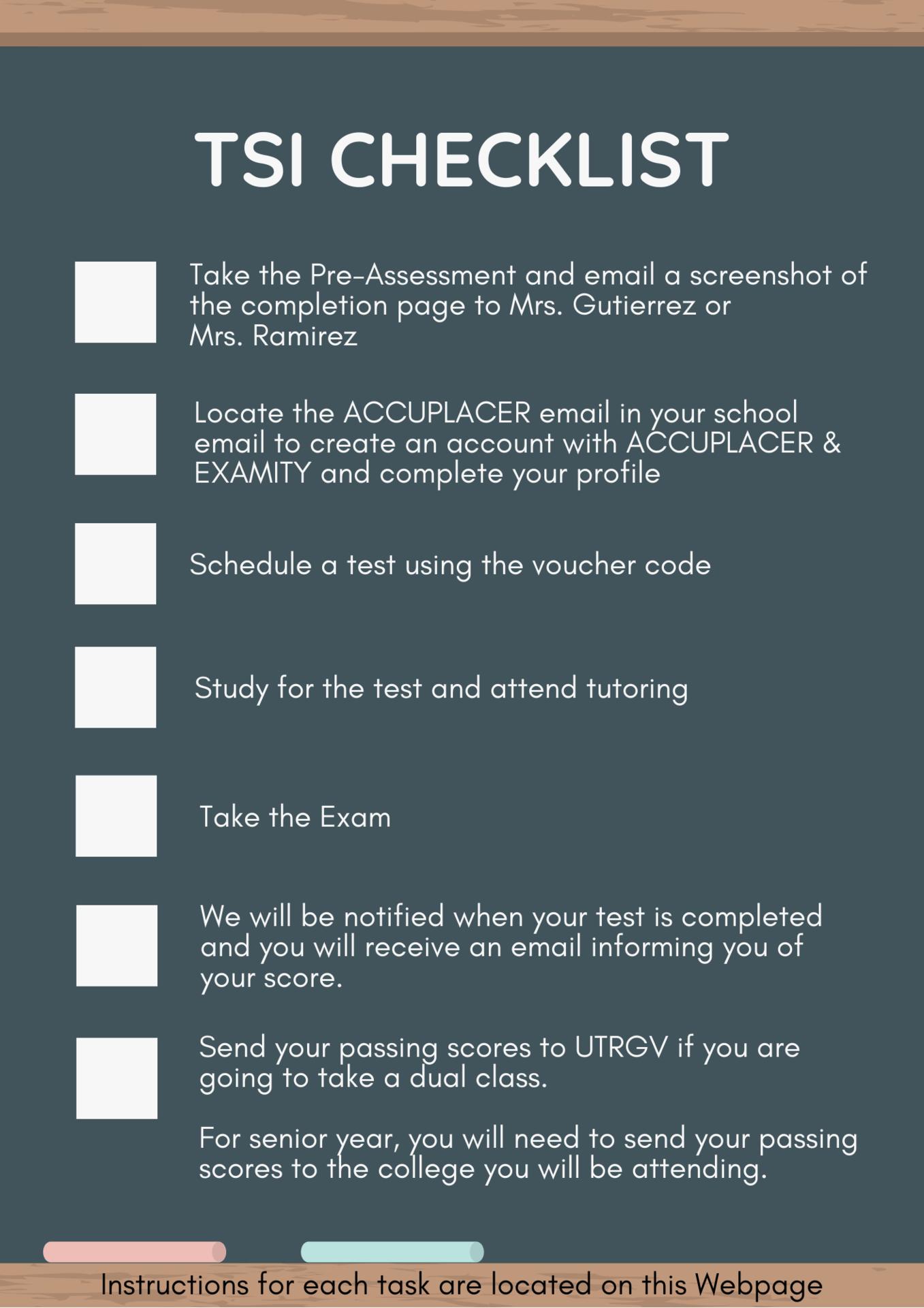 TSI Checklist
