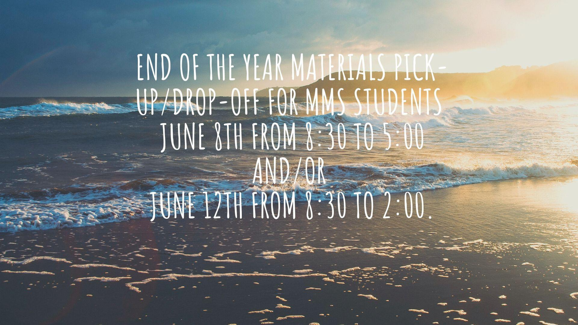 end of the year info
