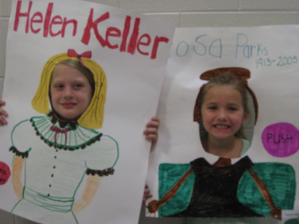 Wax Museum-Helen Keller and Ruby Bridges