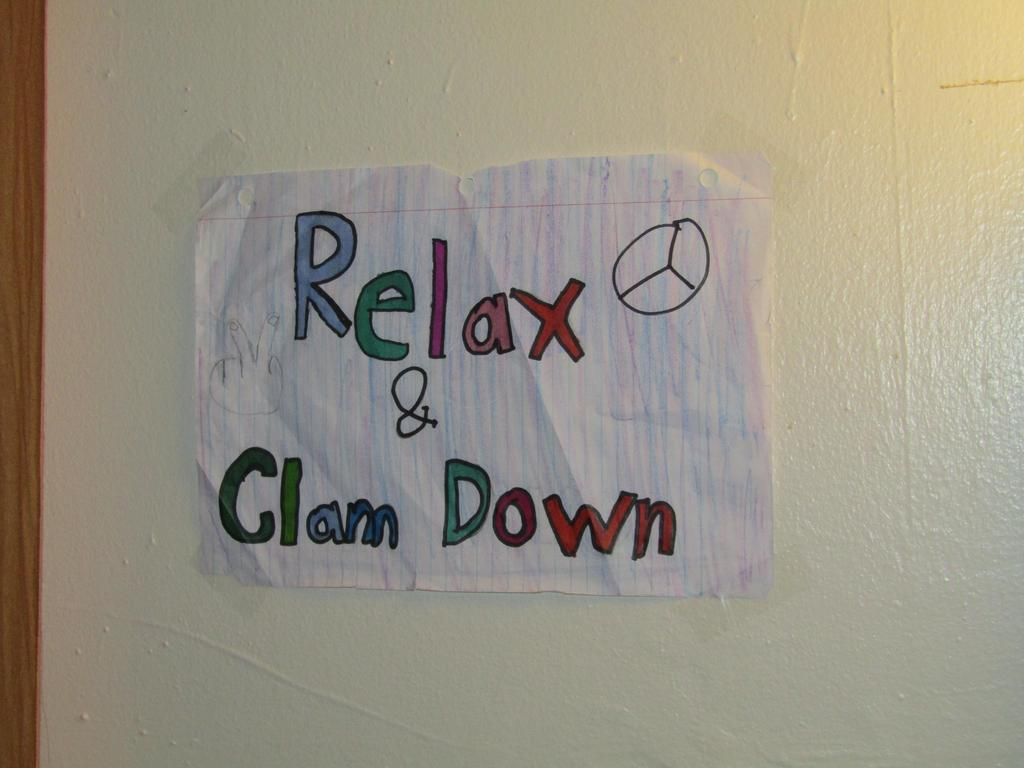 relax and calm down sign