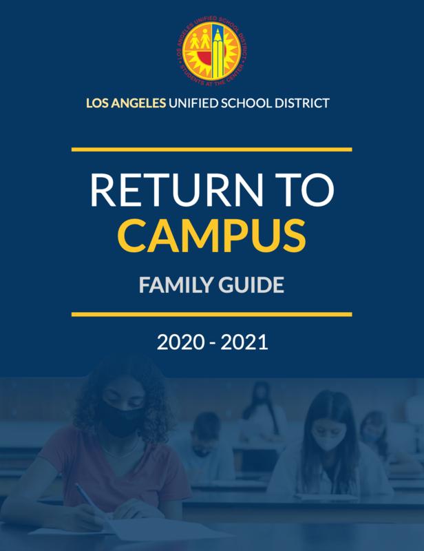 Return to Campus Family Guide/Regreso a Las Escuela Guía Para Familias