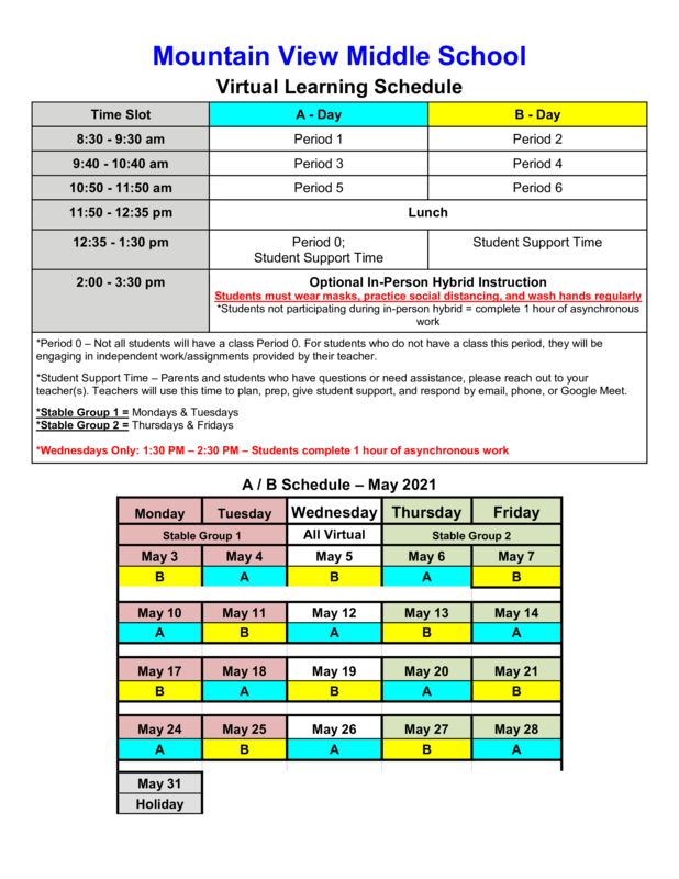 May Virtual & Hybrid Learning Schedule Featured Photo