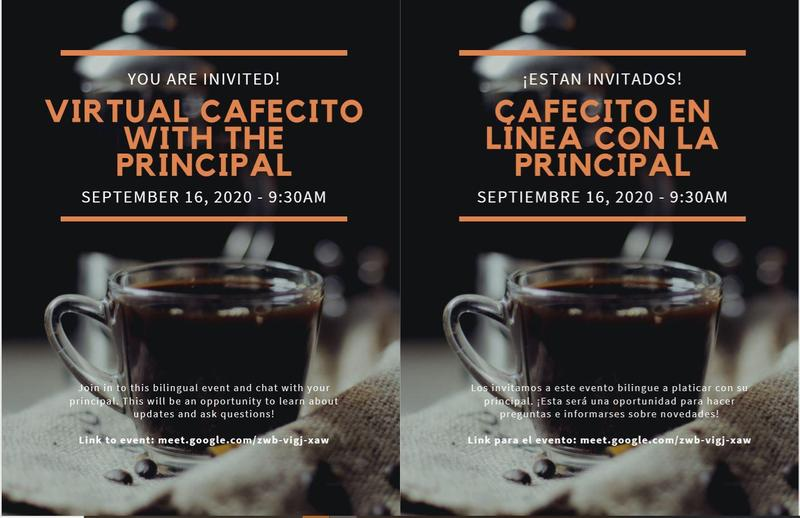 Virtual Cafe with the Principal