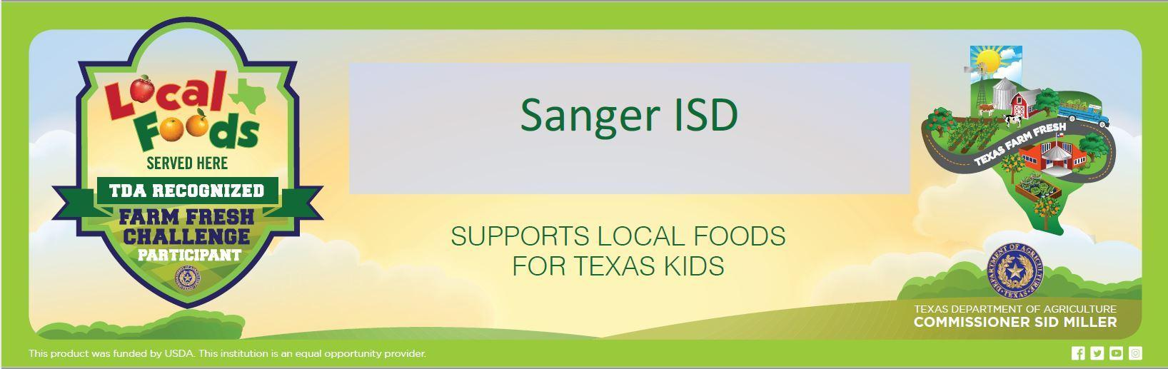 Sanger ISD supports local foods for Texas kids