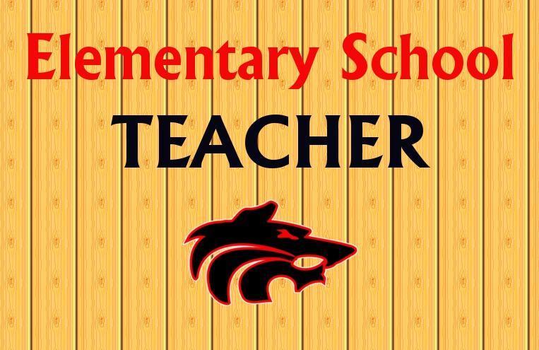 Elementary Teacher with Wolf Logo