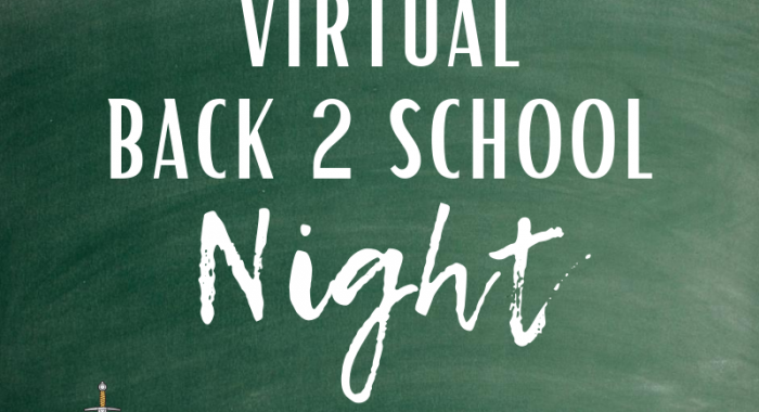Back to school night chalkboard sign