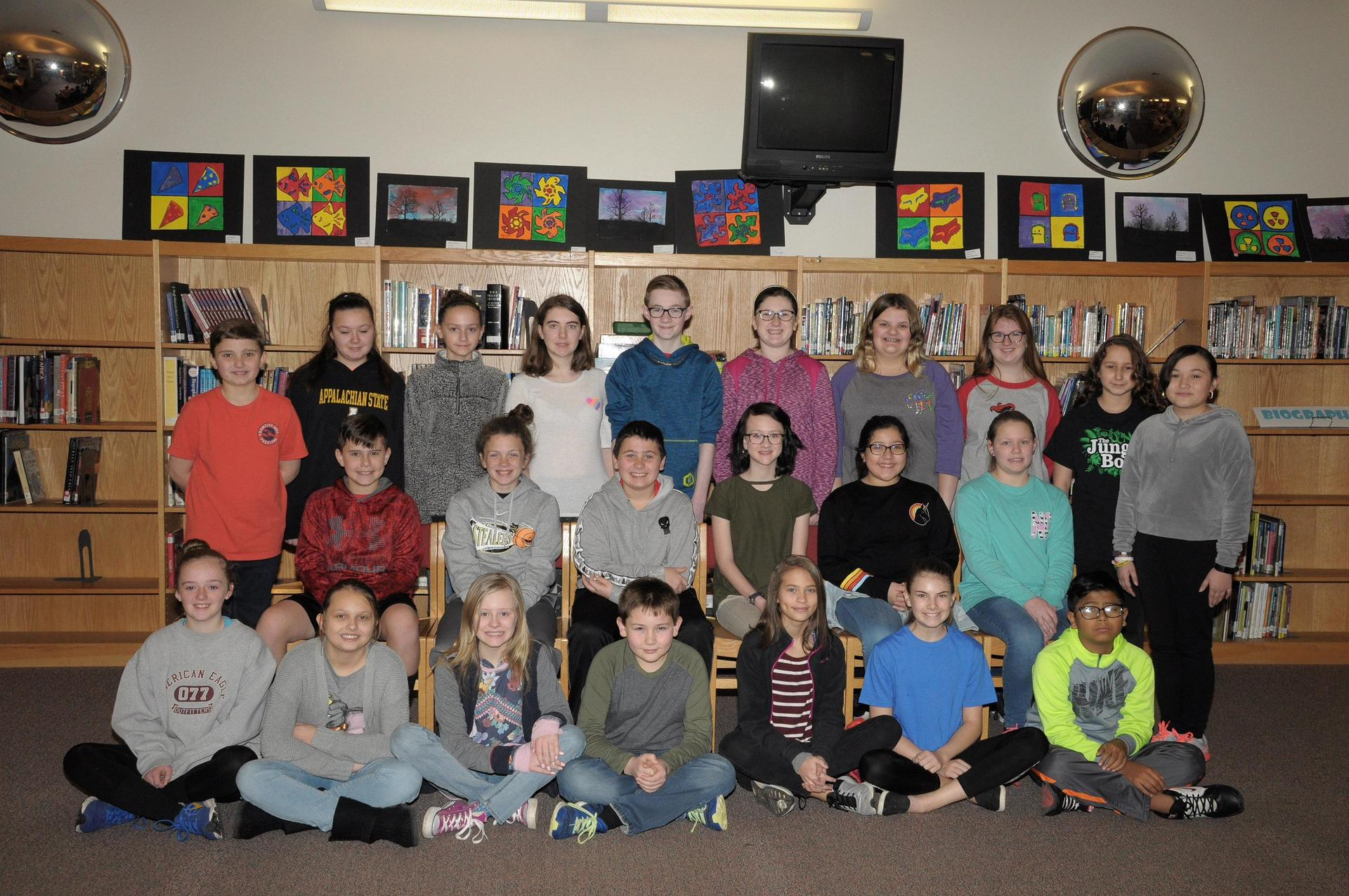 Picture of 6th grade Beta Club members.