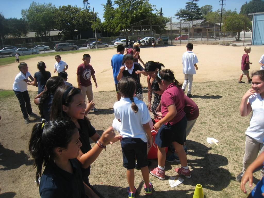 Students having fun at the PTA/ASB Community Building Picnic