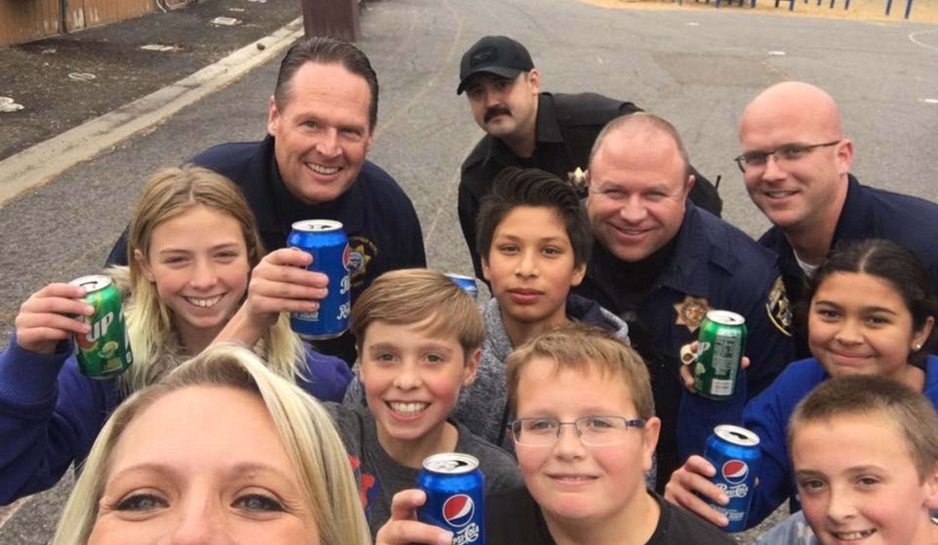 6th graders enjoy a Pop with a Cop