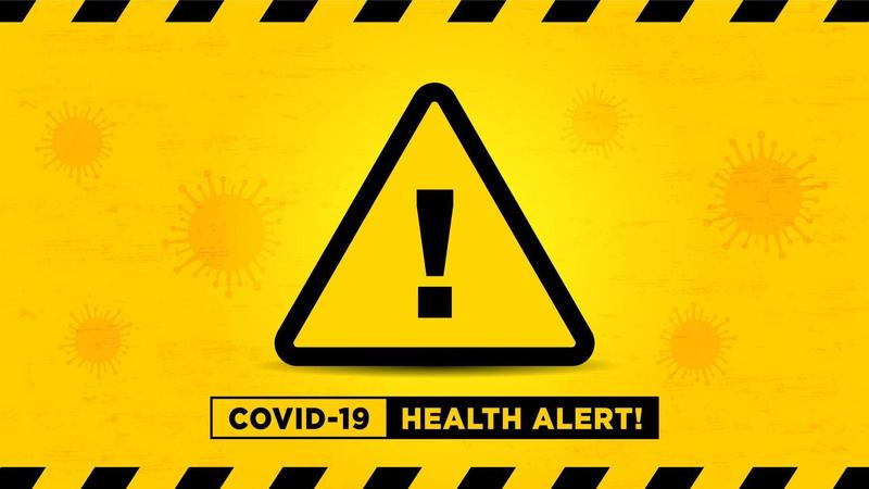 health alert sign