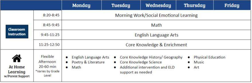 modified day sched