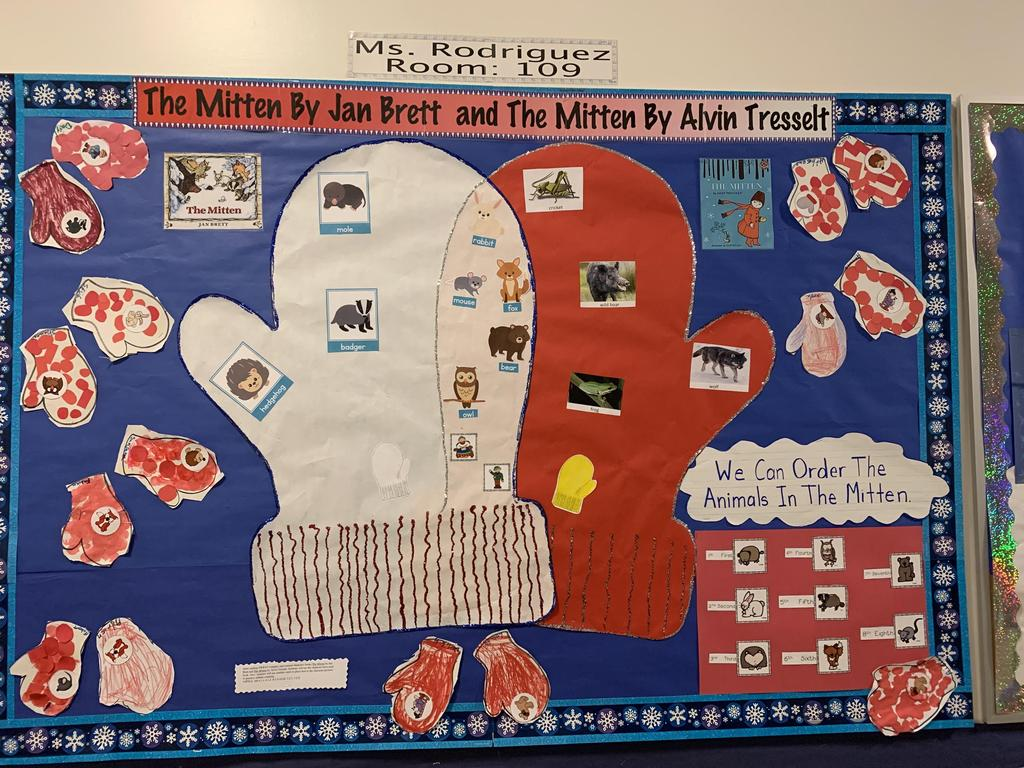 The mitten story board display