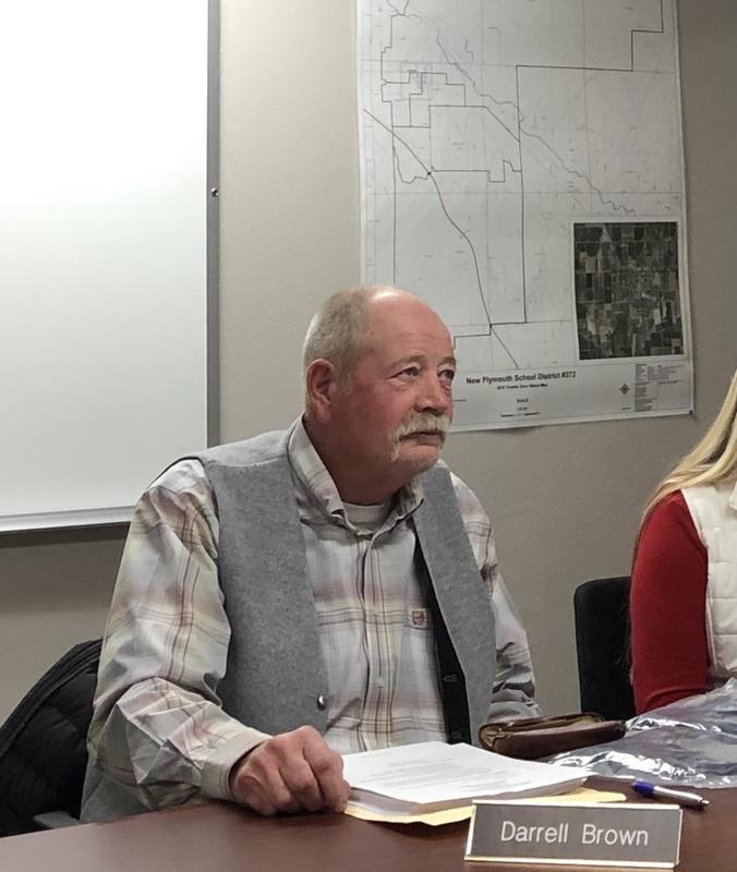 R. Darrell Brown at a school board meeting.