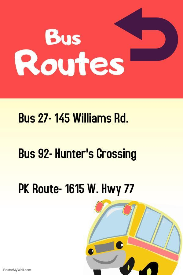 Frank Roberts Elementary Bus Routes