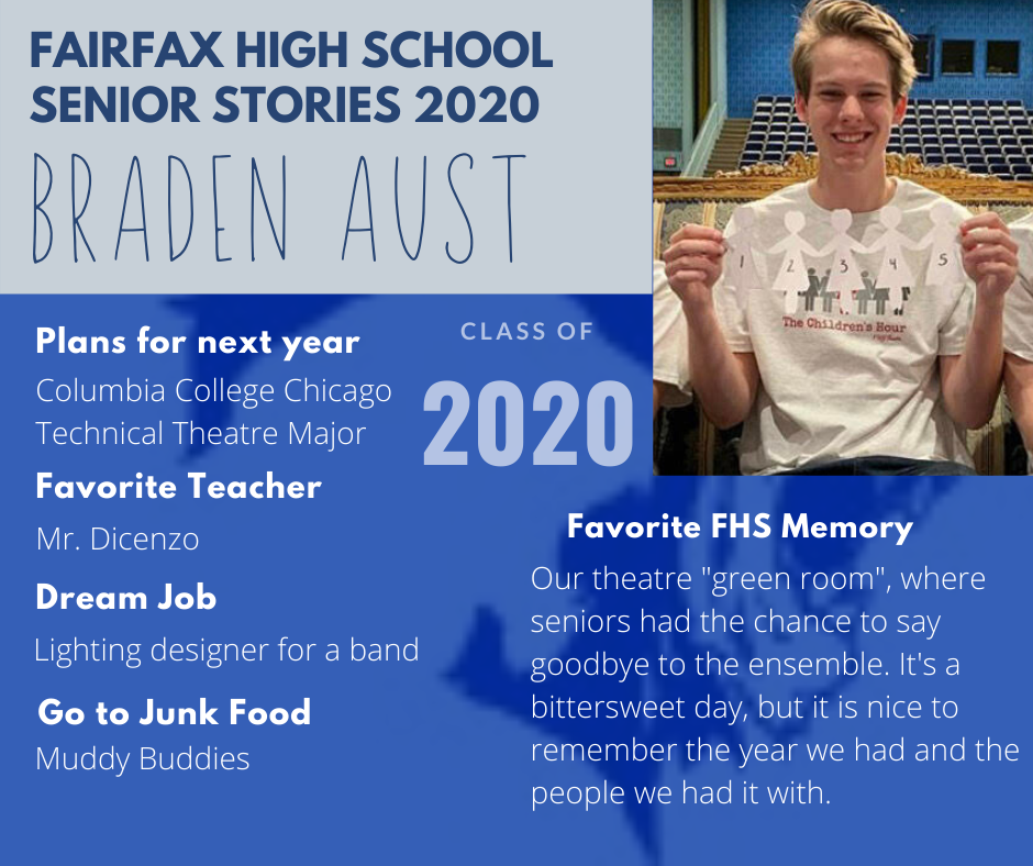 Photo and list of activities for Braden Aust