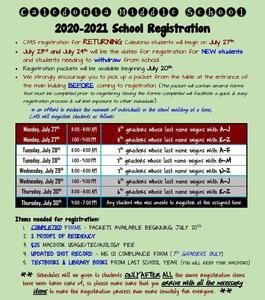 2020-2021 registration info