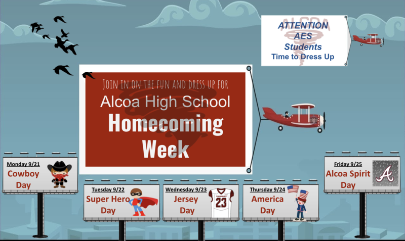 AHS Homecoming Spirit Week Dress Up Days Featured Photo