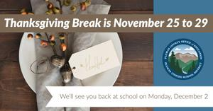 Thanksgiving break flyer