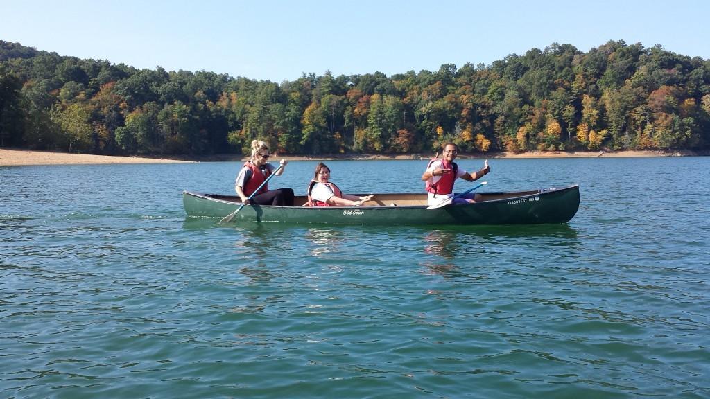 Sunshine canoeing at Jacobs Creek