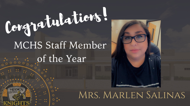 Congratulations to Our Staff Member of the Year, Mrs. Marlen Salinas! Featured Photo