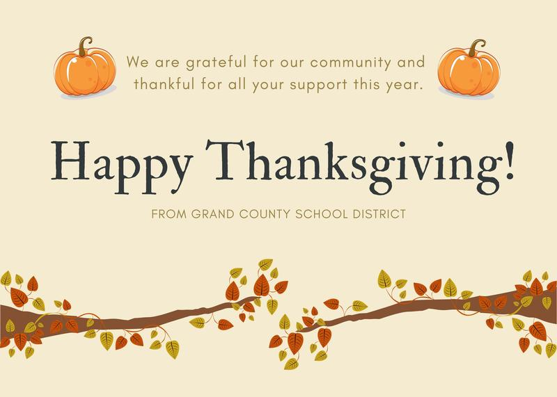 Happy Thanksgiving from GCSD Featured Photo